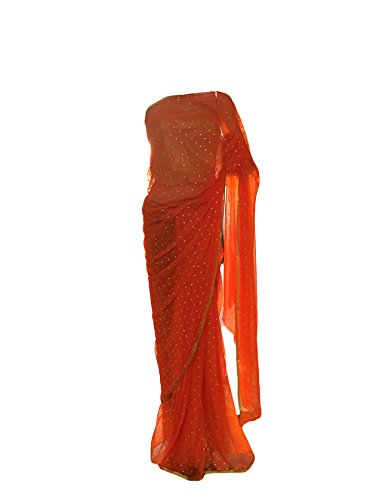 Fancy-Designer-Zari-Dollar-Orange-Color-Saree