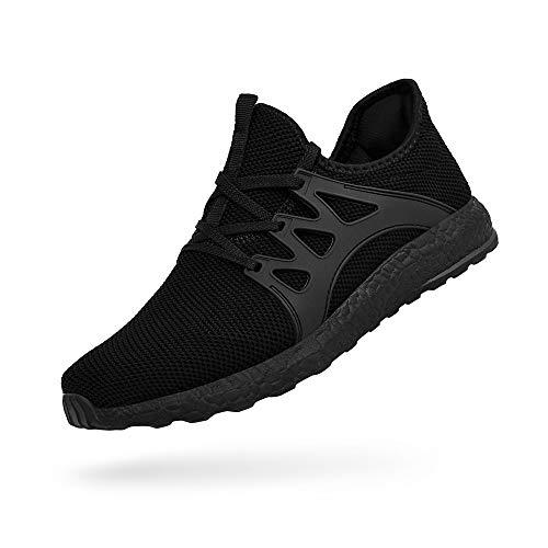 ZOCAVIA Herren Damen Sneaker Running Laufschuhe Sportschuhe Rutschfeste Sneaker Schwarz 39 EU