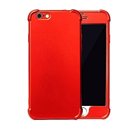 Coque iPhone 6s Plus,JEPER® 360° Protection Intégrale TPU+PC Quatre Coins Airbag Ultra Mince Anti-Choc Anti-Scratch Etui Housse pour Apple iPhone 6 Plus Case 5.5