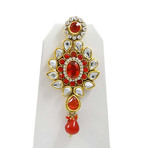 Indienne Bollywood Mariage Ensemble Mariée Cadeau De Bijoux Design Ethnique Pour Les Femmes Rouge-4