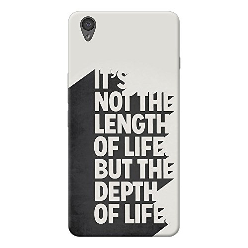INKIF Lenth Of The Life Quote Designer Case Printed Mobile Back Cover for One plus X /Oneplus x (Grey )