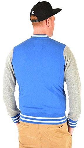 Rockabilly Baseball Dickies Herren UTAH COLLEGE 50s JACKE Vintage Blau Weiß Blau / Weiß