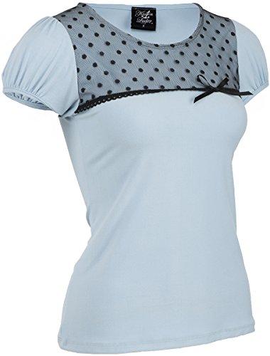Küstenluder CHARLSIE Nostalgic Polka Dots TULLE Vintage Pin Up Shirt Rockabilly - 2