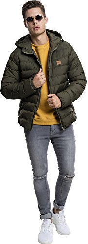 Urban Classics Herren Jacke Basic Bubble Jacket Army Green