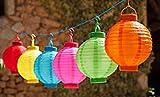 Unbekannt LED Solar Lampion Solarlaterne bunt Chinalampe Solarleuchte Solarlampe Laterne Lampe Licht Stückpreis