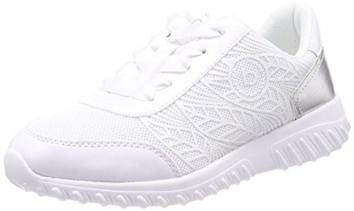 Bugatti Damen 421455015069 Sneaker, Weiß (White/Silver), 41 EU