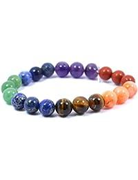 7 Chakra Bracelet 8 Mm Stone Beads For Reiki Healing Crystal Healing Chakra Balancing Bracelet
