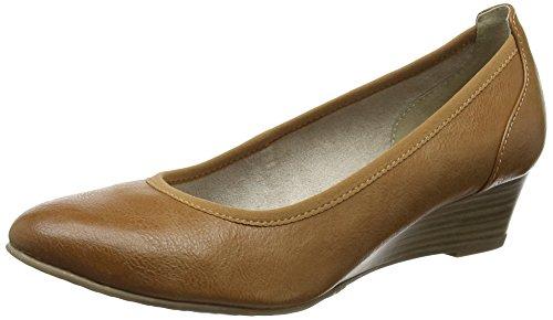 Tamaris Damen 22304 Pumps, Braun (Nut), 36 EU (Schuhe Wedge)
