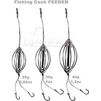 3pcs Juego comederos de Pesca de Carpa 15cm - anzuelos de Carpa en Línea Gruesa para Pesca de Cebo