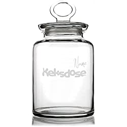 Privatglas Glasdose für Kekse mit Gravur des Namens