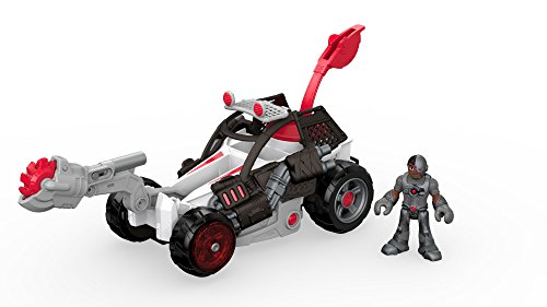 DC Imaginext Super Friends : Street of Gotham City – Cyborg – Véhicule et Mini Figurine