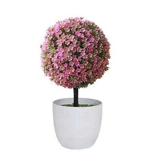 AchidistviQ Künstliche Topf Schmuck Topiary Kugel Form Bonsai gefälschte Pflanze Wohndekoration