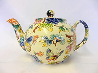 "Théière 2tasses en design ""Jardin Oriental par Heron Cross Pottery."