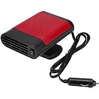 KIMISS 12V Calentador eléctrico portátil de la ventana del coche, Secador de calefacción, Descongelador del ventilador del parabrisas, Desmistar(Negro Rojo)