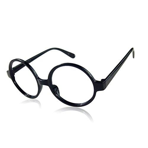 Vkospy Fancy Round-Rahmen-Partei-Kleid Big Nerd-Brille Brillengestell ohne Objektiv