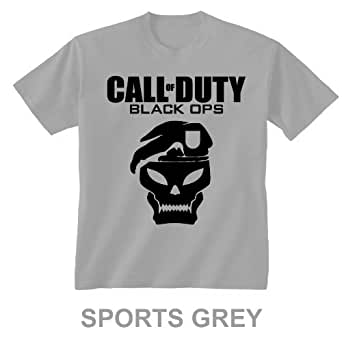 Youth Kids Childrens COD Call Of Duty Black Ops Gamer Top T-shirt Sports Grey 12-13 Years (XL)