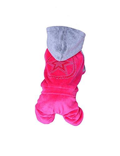Hundeoverall für kleine Hunde extra weich (XL Rückenlänge 36cm, pink) Berber-pullover