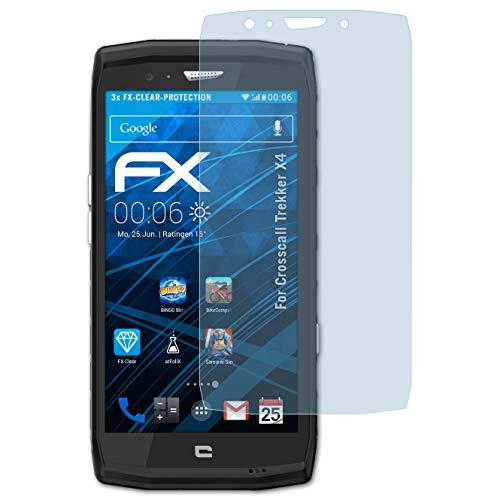 atFolix Schutzfolie kompatibel mit Crosscall Trekker X4 Folie, ultraklare FX Bildschirmschutzfolie (3X)