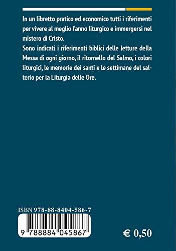 Calendario Liturgico Romano 2020.Libro Calendario Liturgico 2020 Di Autori Vari
