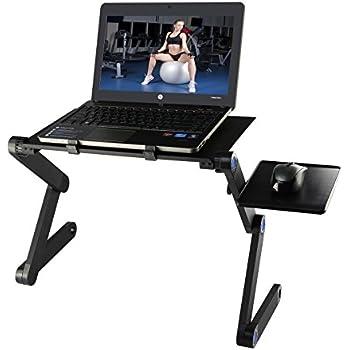 Portatile Regolabile Tavolo Laptop, Etpark Alluminio pieghevole di supporto per notebook con Pannello Porta Mouse