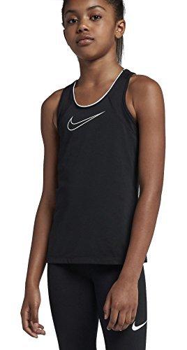 Nike Mädchen Pro Tanktop, Black/Black/(White) (C/O), XL (Herstellergröße:156-166 CM/13-15 YRS)