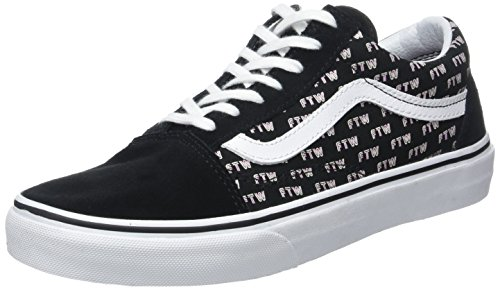 Vans ua old skool, scarpe da ginnastica basse donna, nero (sayings black), 35 eu