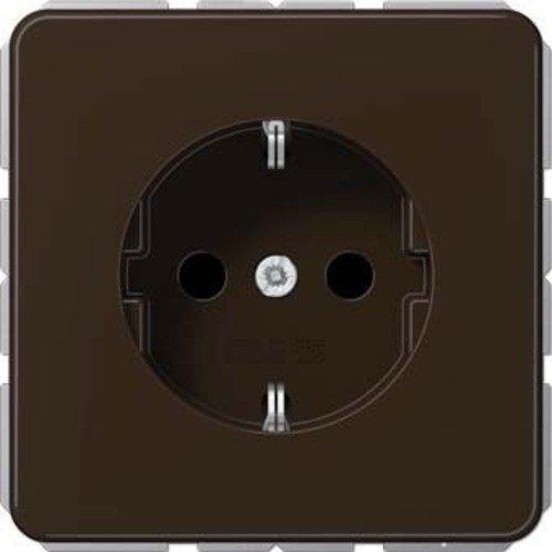 Jung SchukoSteckdose 16A250V Serie CD Braun, 1 Stück, CD 1520 BR -