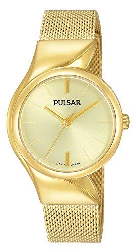 Pulsar Reloj Mujer de Analogico con Correa en Chapado en Acero Inoxidable PH8234X1