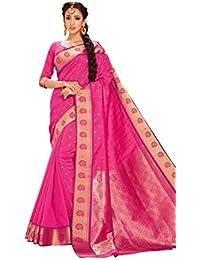 Craftsvilla Women's Art Silk Saree With Blouse Piece (Mcraf48752258710,Pink,Free Size)