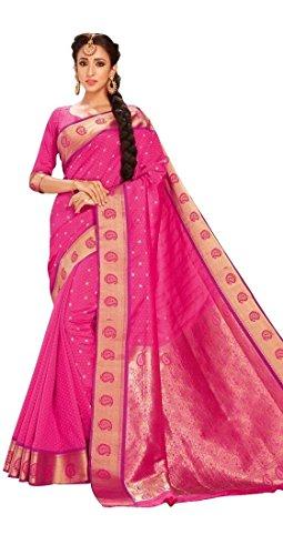 Craftsvilla Women\'s Art Silk Saree With Blouse Piece (Mcraf48752258710,Pink,Free Size)