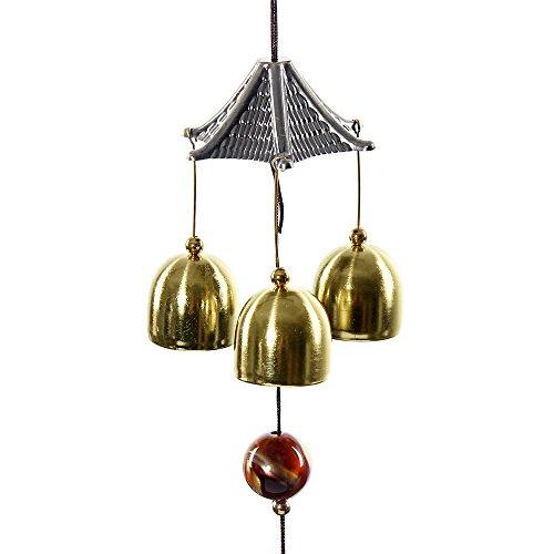 dspiel Röhren, hängend, Grace Collection, Ornament, toller Klang, bronzefarben, Glocken, Windspiel für Haus und Garten a ()
