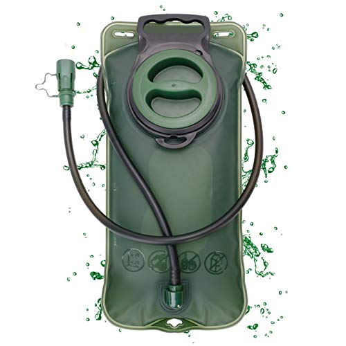 """Grenhaven Trinkblase Trinkrucksack 2 Liter Fassungsvermögen mit """"Drinking System"""" Trinkbeutel für Rucksäcke mit Trinksystemvorrichtung in Olivgrün"""