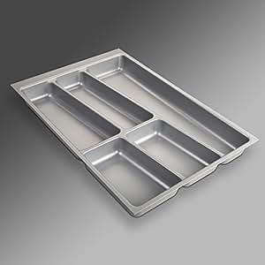 ORGA-BOX® II Bac à couvert (462 x 305 mm) pour Nobilia Tiroir de 40 mm Gris Argenté