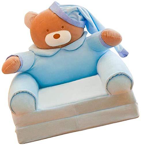 Wintersieger schöne Cartoon-Form für Kinder, faltbar, Sofa- und Stuhlbezug, für Kinder, Sessel, Möbel zum Lesen, Spielen, Fernsehen - Blauer Bär, wie beschrieben