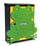 Alubox Frosch Postkasten Mia mit Tür, mehrfarbig