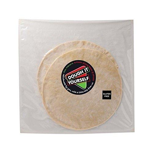 La Pâte Vous-Même 2 Artisan Croûte Mince Gluten Bases De Pizza Gratuite 400G - Paquet de 2