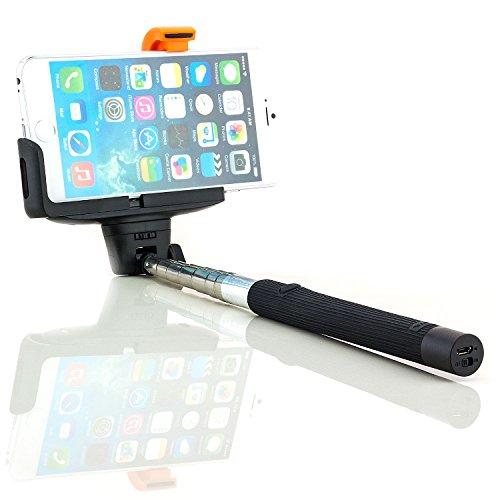 Touch One C9 Pop Alcatel 4g (Saxonia Bluetooth Selfie Stick Stange Stab Farbe: Schwarz | Universal Monopod Handy-Halterung ausziehbar)