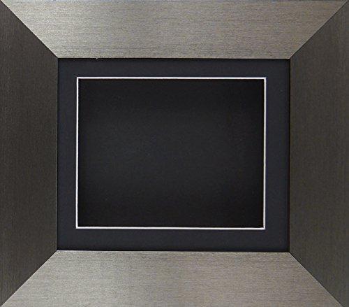 6 x cm 12,7 final del estaño caja de sombra 3D medalla de recuerdo para unos 1st patucos flores marco/negro BuyBits/forro negro