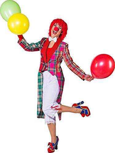 Orlob NEU Damen-Kostüm Patchwork Frack Clown , Gr. ()