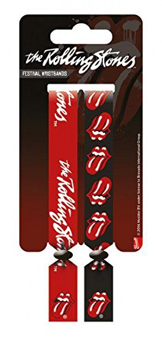 Rolling Stones - Festival Wristbands, Set Di 2 10mm Wristbands Braccialetto (10 x 2cm)