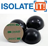 1.5 (3.81 cm) Sorbothane Hemisphere Rubber Bumper Non-Skid Feet with Adhesive 50 Durometer - by Isolate It!