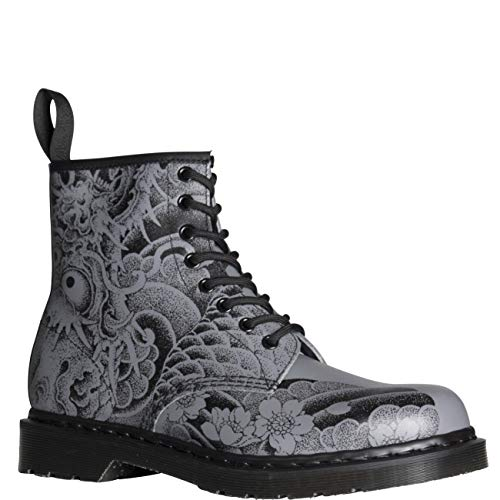 fcab1a89335705 Unisex Adults Dr Martens 1460 Print Orignals Tattoo Backhand Ankle Boots -  Tattoo Grey - 9