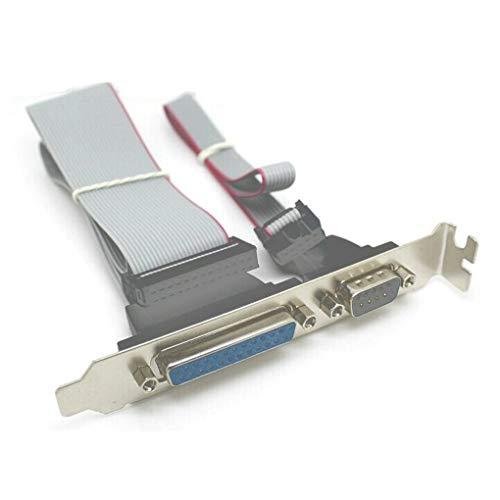Morza Serielle DB9 Pin COM mit Parallel DB25 Pin LPT-Kabel mit PCI-Slot-Header Bracket -