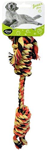 Aimé Spielseil für Hunde , doppelter Knoten, 40 cm