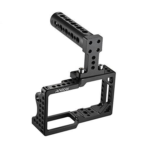 Andoer Videokamera Cage Stabilisator Protector mit Top Handle für BMPCC Kamera zur Montage Mikrofon Monitor Stativ LED Licht Foto Zubehör