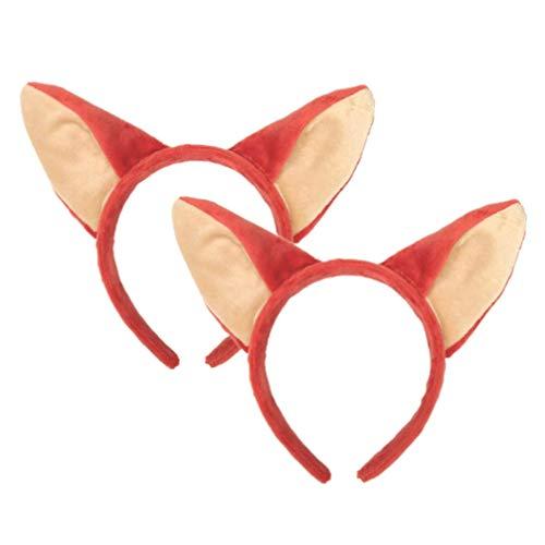 Holibanna 2 stücke fuchsohr Kopf Hoop Stirnband Haarband Geburtstagsparty Headwear Cosplay - Holloween Kostüm Zu Machen