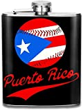 Ouerto Rican Flag Tennis Stainless Steel Flask Portable 7OZ Hip Flask Camping Wine Pot Whiskey Wine Flagon Mug
