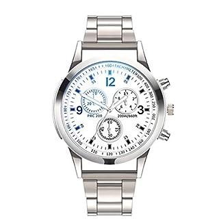 LSAltd Luxusuhren Quarzuhr Edelstahl Zifferblatt Beiläufige Armbanduhr