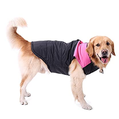 PAWZ Road Pet Clothes For Small Medium and Large Dogs Winter Warm Vest Jacket Easy On/Off Pink 6L 3