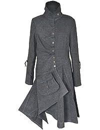Militar Estilo Ajuste chaquetas Cazadoras gabardina Abrigo para Mujeres Señoras